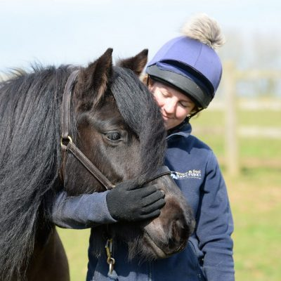 Member of staff with pony