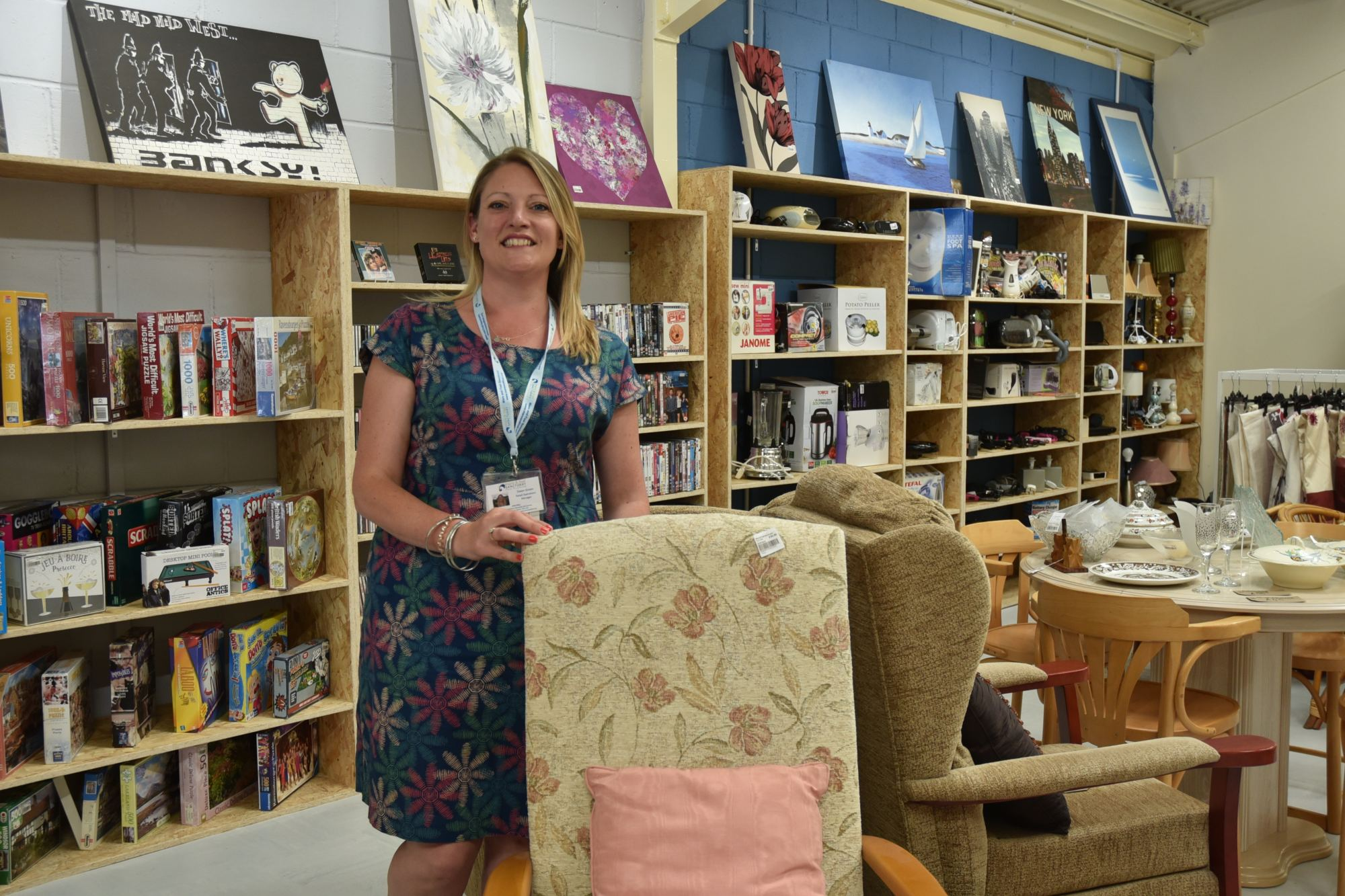 Charity-shop-manager-reuse-and-recycle-store-Brunel